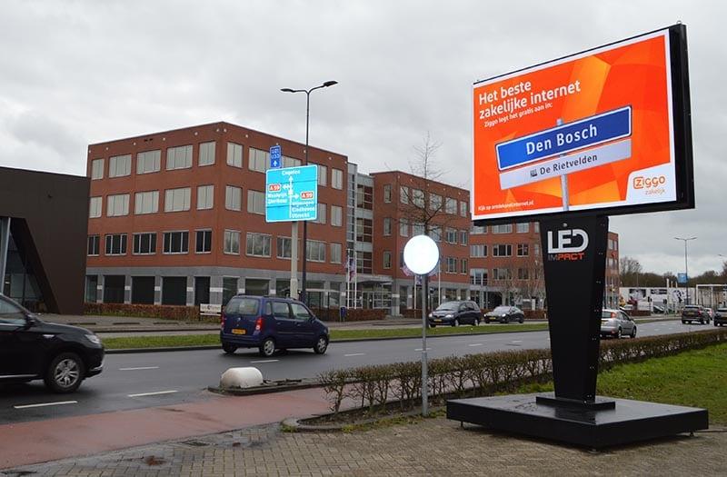 LED scherm ingezet voor Ziggo Den Bosch
