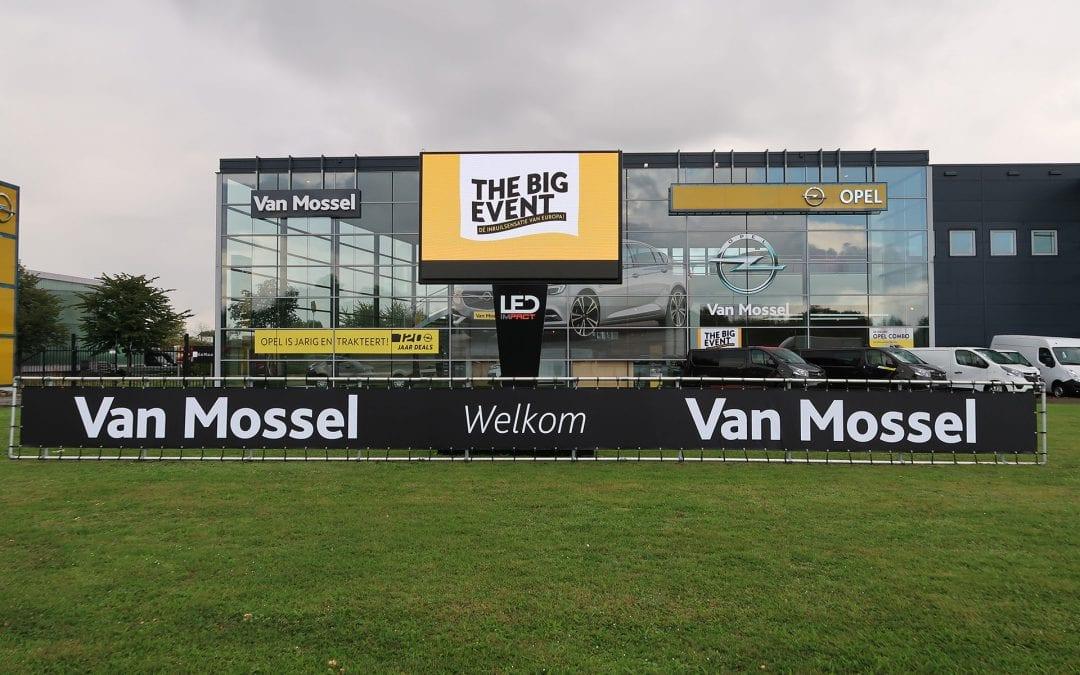 Acht LEDschermen op Opel Big Event in Brabant